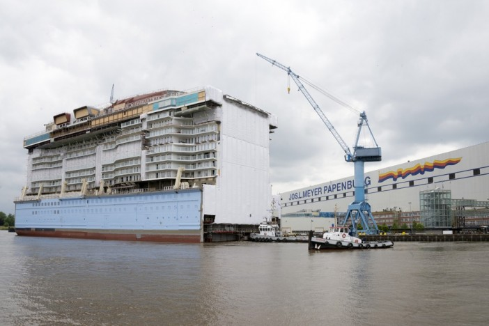 anthem of the seas layout revealed as construction continues