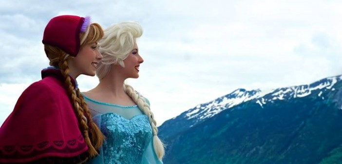 Frozen's Anna & ElsaDisney Performance - Courtesy of Disney Facebook