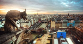paris skyline gargoyle