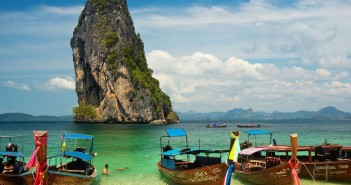 Boats on the beach / Krabi / Thailand