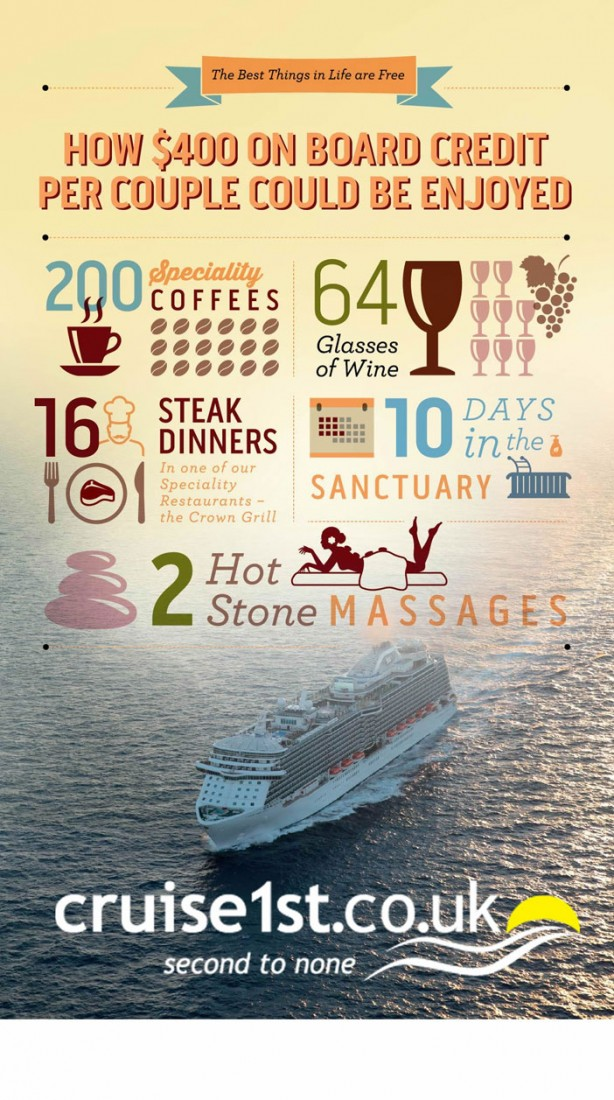 Princess Cruises the best things in life are free campaign