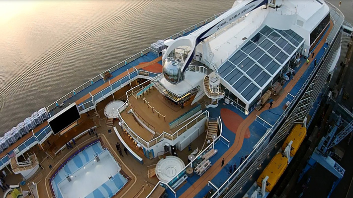 Quantum of the Seas aerial view.