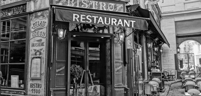 Traditional bistro in Paris. France. Flickr Creative Commons: drburtoni