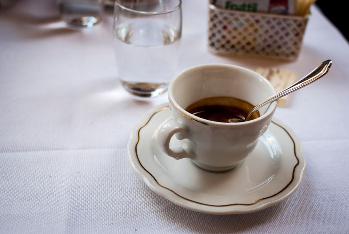 Black coffee in an Italian cafe. Flickr Creative commons credit: Salomé Chaussure