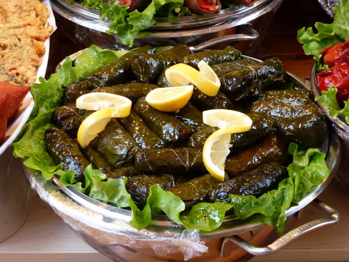 Stuffed vine leaves, Istanbul. Flickr Creative Commons, Context Travel