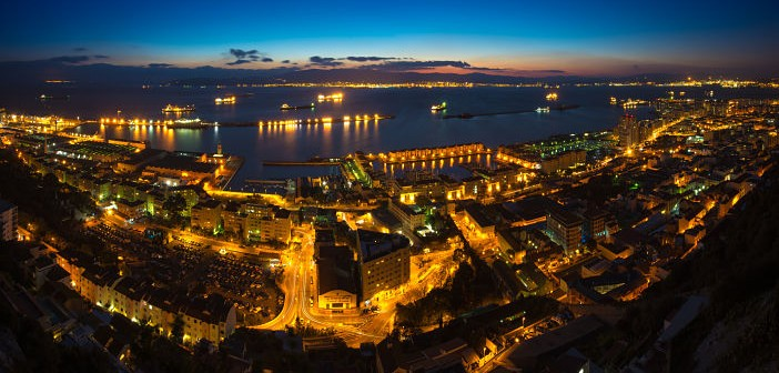 Gibraltar at Night