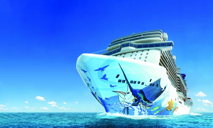 Norwegian Escape Hull Art Nears Completion