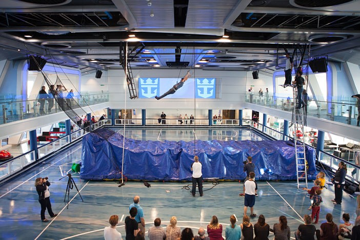 Royal Caribbean International launches Quantum of the Seas, the newest ship in the fleet, in November 2014. Circus Training at Seaplex