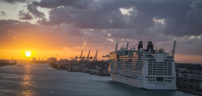 Norwegian Epic Port Miami Sunrise