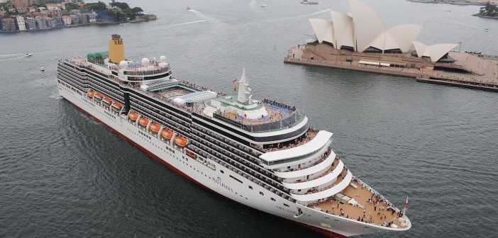 p and o largest cruise ship australia