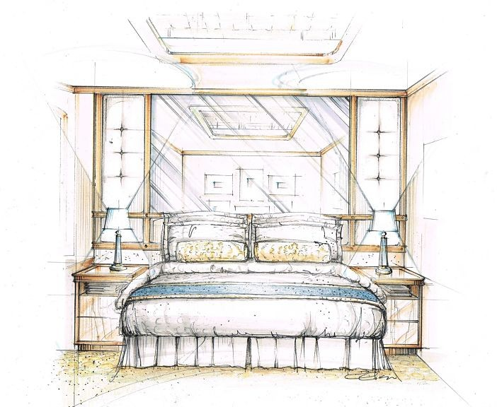 Princess Luxury Bed Sketch by Candice Olson_opt