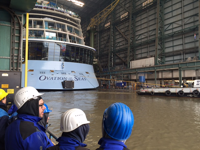 Ovation of the Seas float out
