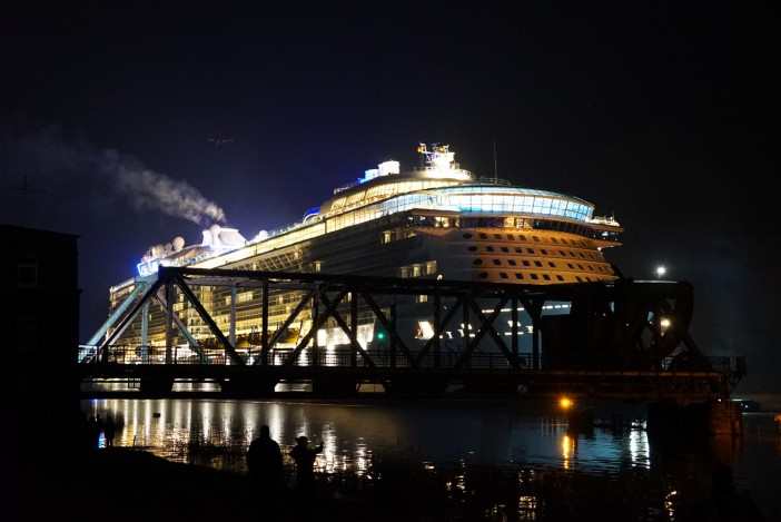 Ovation of the Seas at night