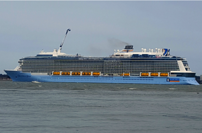 Cruise Miss on her first time aboard Ovation of the Seas