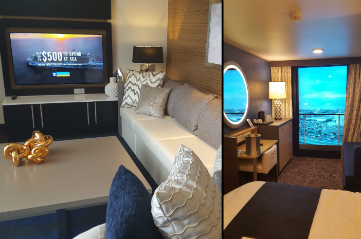 Royal Loft Suite and Virtual Balcony aboard Ovation of the Seas