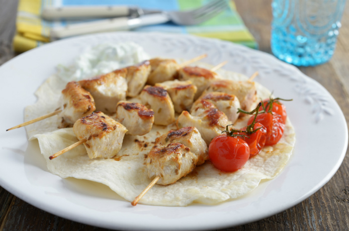 Kalamaki or Souvlaki, typical food from Athens