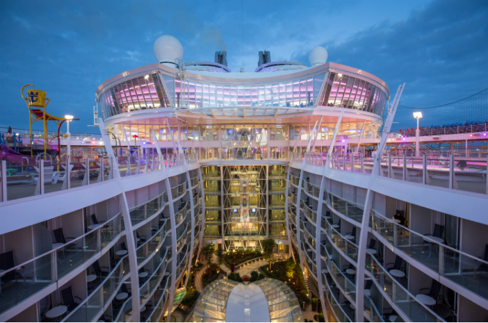 view from the top of central park in Harmony of the seas