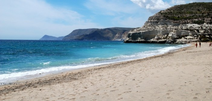 Cabo the gata, Almeria's most famous beach, Spain