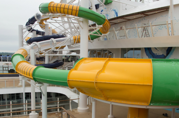 ultimate abyss biggest water slide on a cruise ever