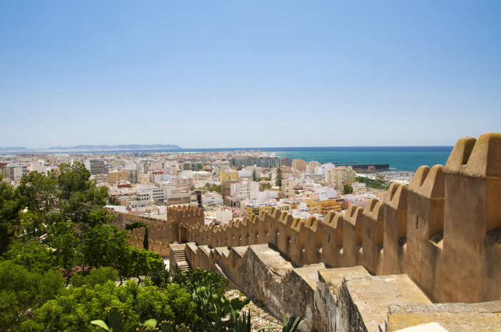the alcazaba of almeria in spain
