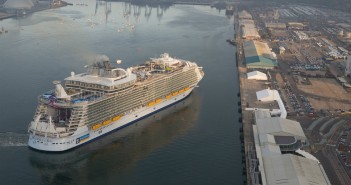 Harmony of the Seas in her arrival to Southampton