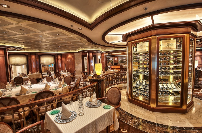 A ship's on-board restaurant