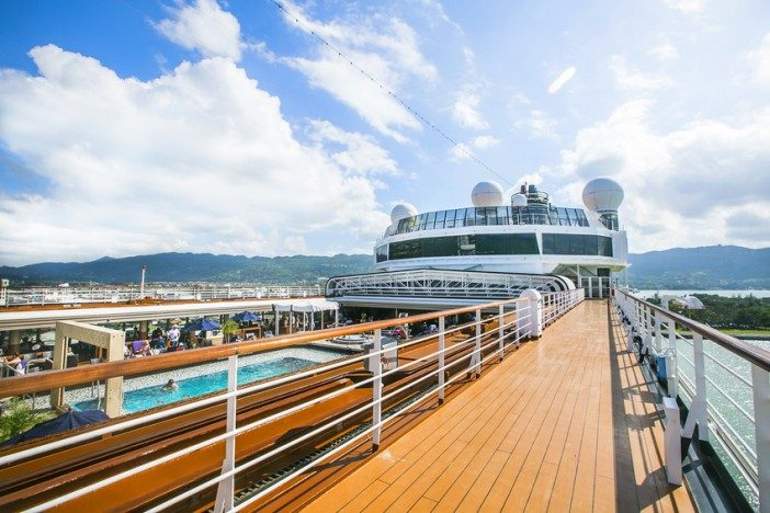 familiarise cruise ship first time