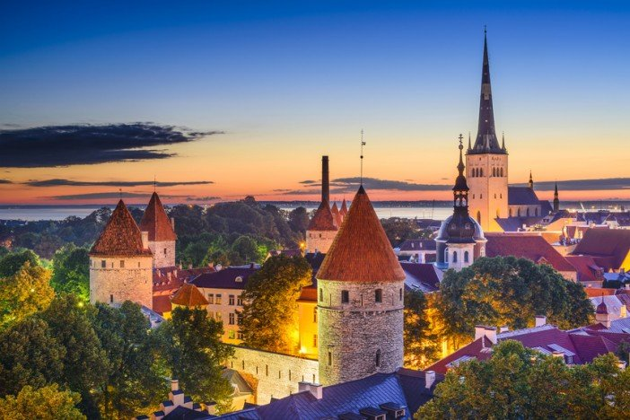 tallinn estonia historic architecture