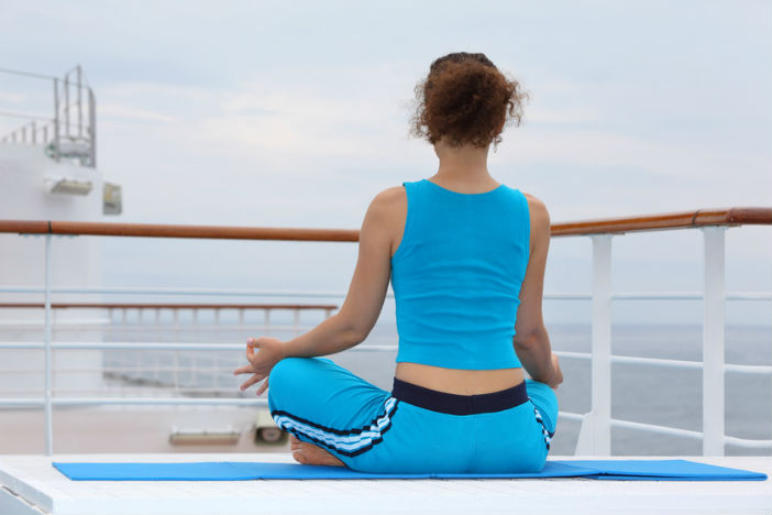 yoga in a cruise