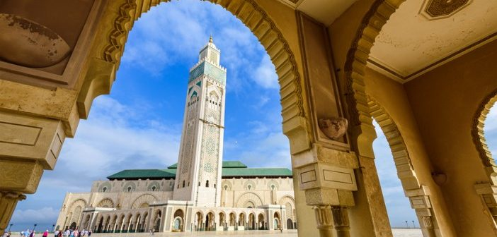 public mosque in casablanca, morocco