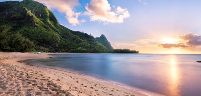 beach view on Kauai, Hawaii