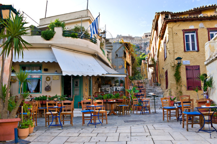 greek town centre cafe