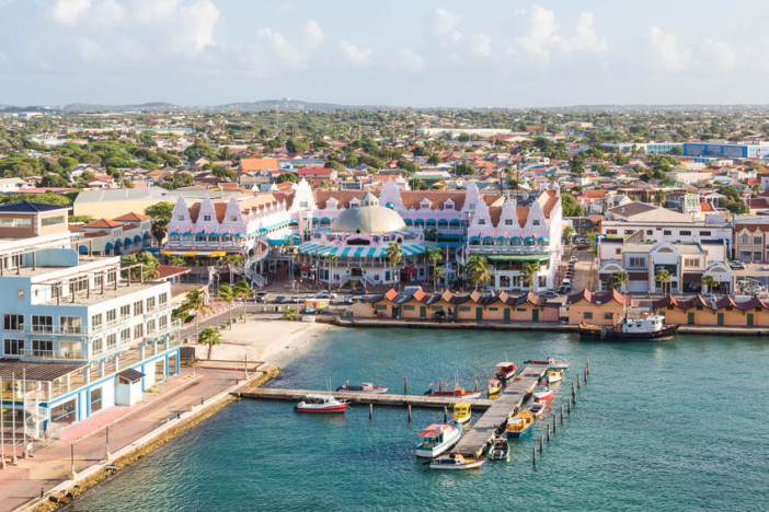 Oranjestad Aruba in the Caribbean