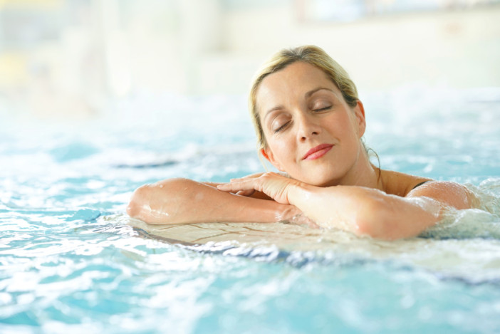 woman relaxing at cruise ship spa