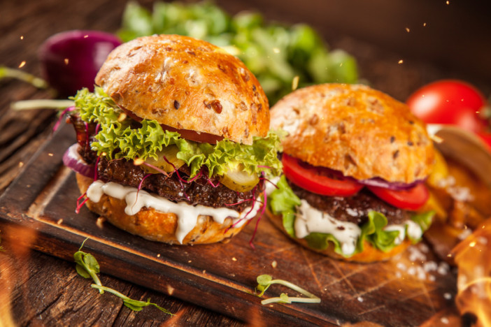 buffalo and mozzarella burger