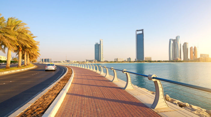 Abu Dhabi, Corniche Road. Evening