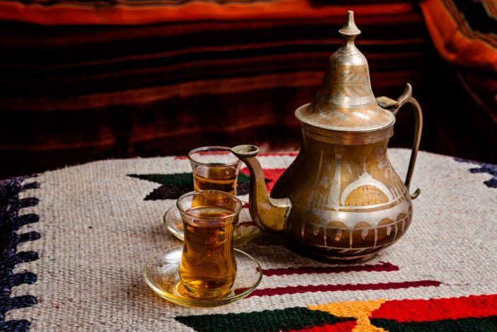 Arabian Tea Party During The Day