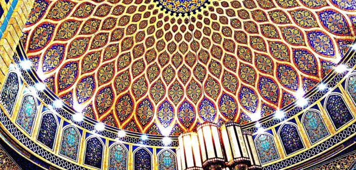 Luxurious Dome Ceiling in a Shopping Mall Dubai