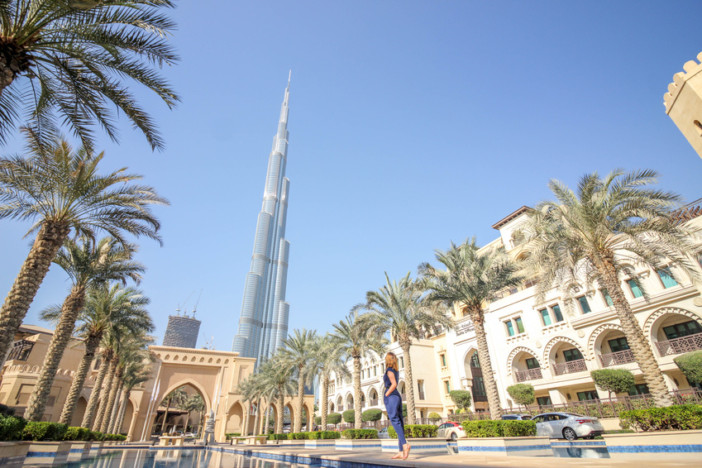 Woman With The Dubai City View 2