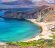 Beautiful beach on Bartolome Island in the Galapagos Islands in Ecuador