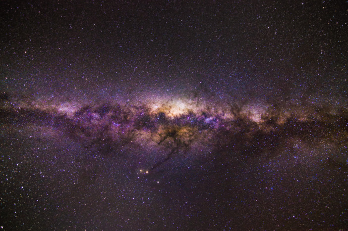 Milky way without any light pollution