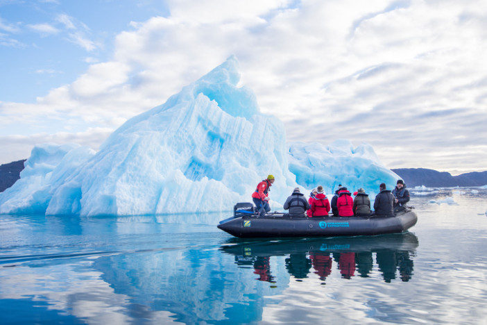 Tourists in a zodiac on an expedition cruise | Cruise Trends in 2018