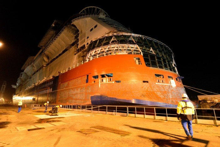 Celebrity Edge Floats Out
