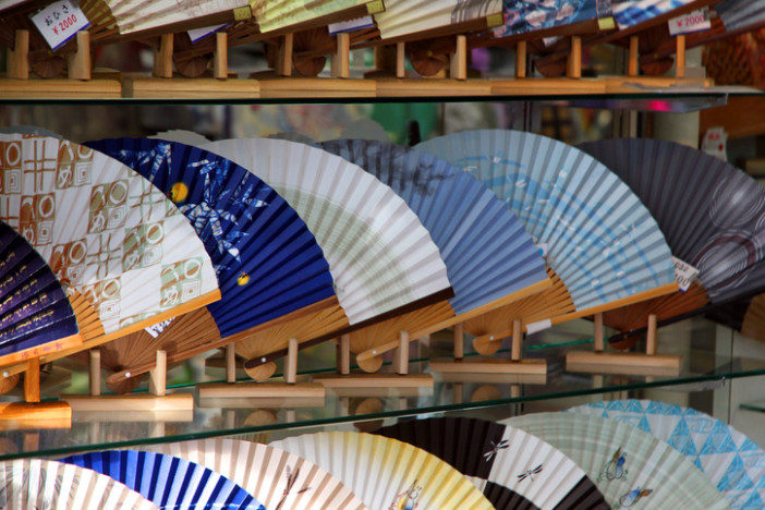 japan souvenir painted hand fan