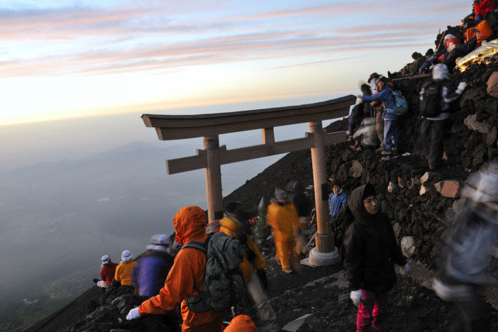 sunrise on mount fuji japan