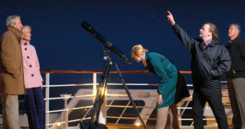 men and women star gazing