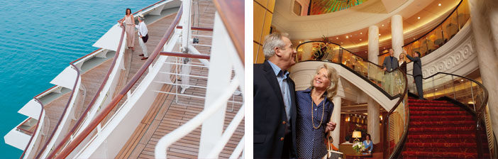 The exterior and interior of Queen Mary 2