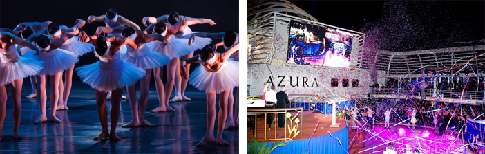 Meet famous dancers onboard of cruise ships