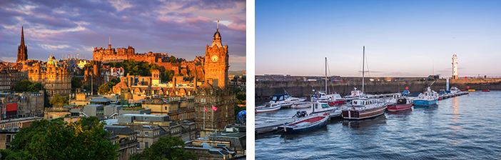 Cruises from the UK 2019 Edinburgh Scotland